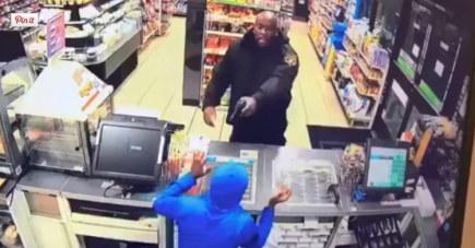 "Security guard shoots two robbers with fake guns ""oh well mines is real"""