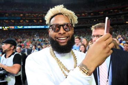 Odell Beckham Jr roasting people at the NBA ALL STAR Game