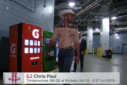 Chris Paul Dressed like aCowboy