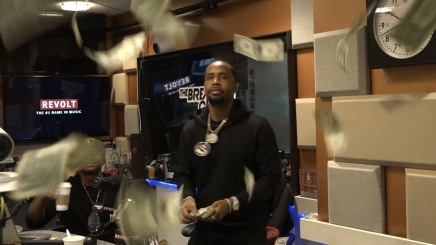 Safaree makes it rain on The Breakfast Club and Charlemagne picks the money up