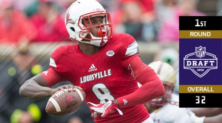 Ravens select Lamar Jackson with 32nd pick