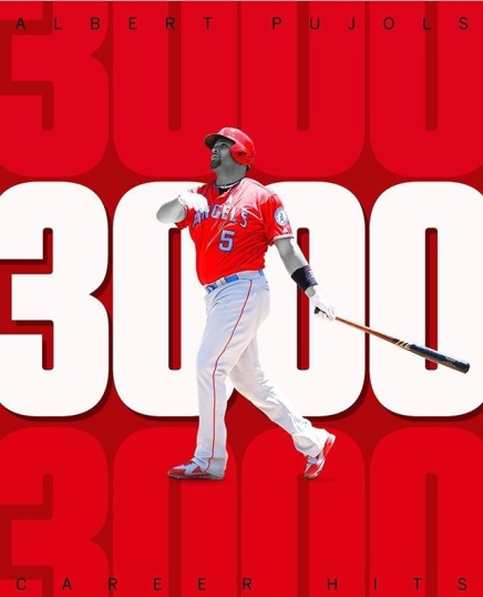 Albert Pujols Reached 3K Career Hits
