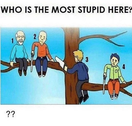 WHO IS THE STUPIDEST PERSON IN THIS PICTURE? ( COMMENT BELOWPOST)