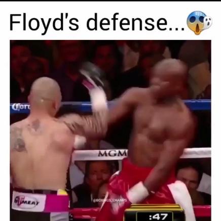 Floyd Mayweather's Incredible defense(Video)