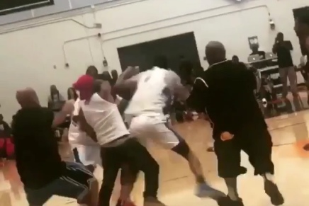 """Rapper """"Game"""" Fights His Own Teammate At A Drew LeagueGame"""
