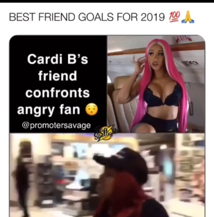 CARDI B'S FRIEND THREATENS TO SMACK A LADY OVER OFFSET ( VIRAL FLAME NETWORK)