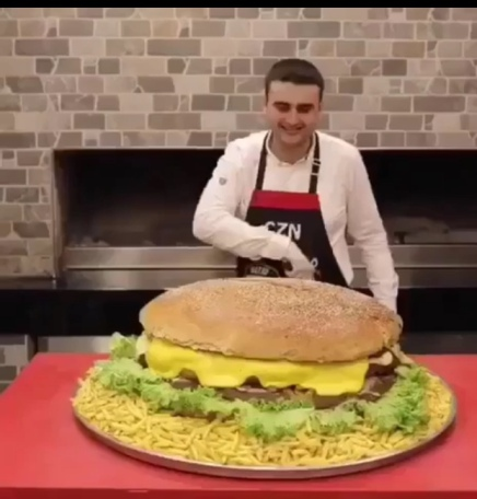 Biggest Burger Ever ( Must See ) ( Viral Flame Network )