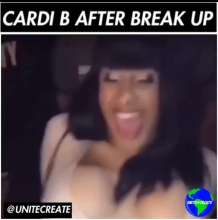 Cardi B Wilding In Club After Offset Breakup ( Viral Flame Network )
