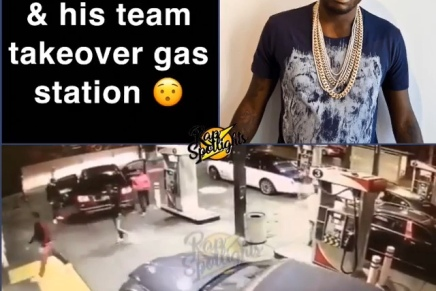 Meek Mill and the Dream Chasers Pull Up Deep At A Gas Station ( Viral Flame Network)