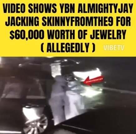 YBN ALMIGHT JAY ROBS SKINNYFROMTHE9 FOR 60K WORTH OF JEWELRY ( VIRAL FLAME NETWORK)