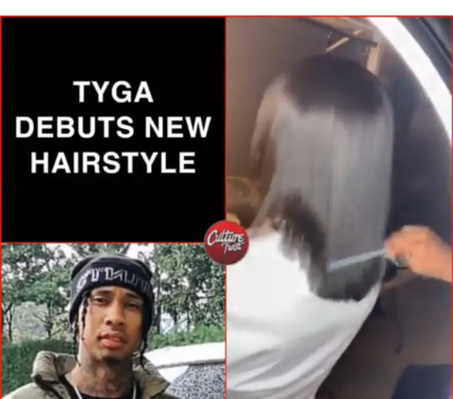 Tyga Shows Off His New Hair Style 🤔🤔🤔  ( Viral Flame Network 🔥)