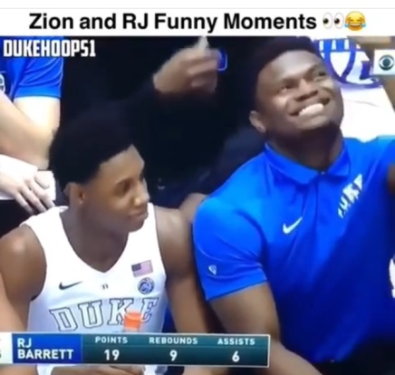 Zion Williamson and RJ Barrett Funniest Moments ( Viral Flame Network )